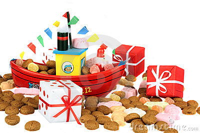 Traditional dutch culture: Santa Claus steamboat