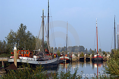 Traditional dutch sailing ships