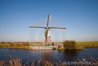 Traditional Dutch windmill