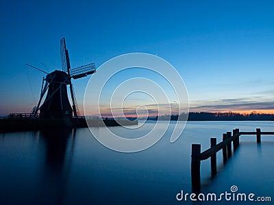 A traditional dutch windmill
