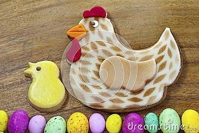 Easter gingerbread cookies.