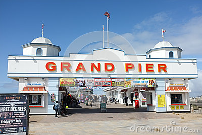 Traditional English Pier, Weston Super Mare Editorial Photography