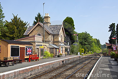 Traditional English railway station
