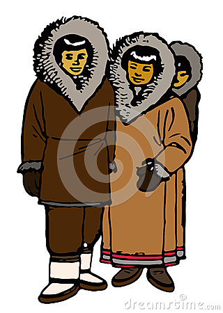 Traditional Eskimo Family