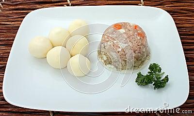 Traditional Estonian Pork Meat Jelly