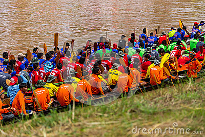 Traditional festivals   Boat race  every year 21 to 22 September, Phitsanulok Thailand Editorial Stock Photo