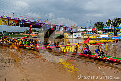Traditional festivals   Boat race  every year 21 to 22 September, Phitsanulok Thailand Editorial Photography