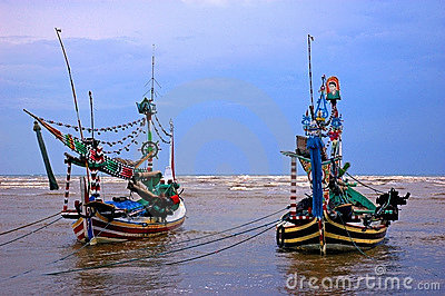 Traditional fishing boats, Java