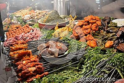 Traditional food stall