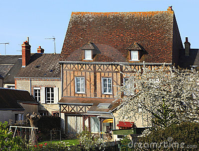 Traditional France house in spring Editorial Photo