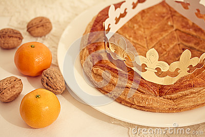 Traditional French cake, Galette des Rois