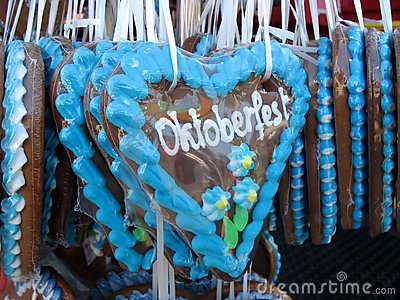 Traditional German Gingerbreads from Oktoberfest Editorial Image