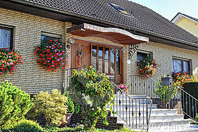 Traditional german house with small garden