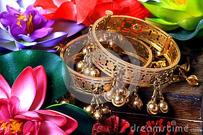 Traditional golden bracelets