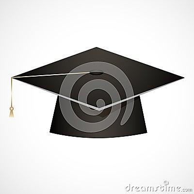Traditional graduation hat