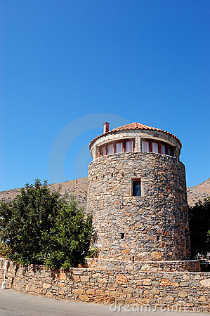 Traditional Greek architecture at Crete island