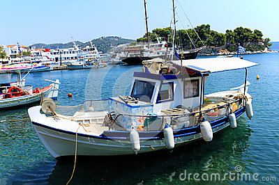 Traditional Greek fishing boat