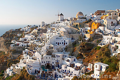 Traditional greek village Oia