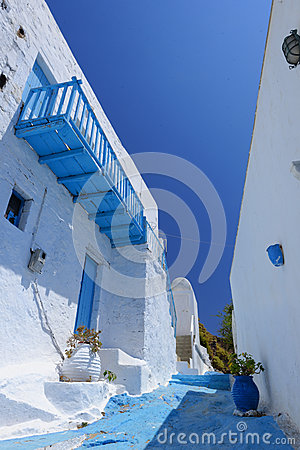 Traditional Greek village view