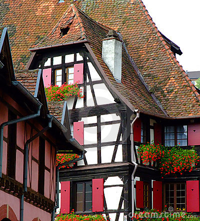 Free Traditional Half-timbered Architecture In Alsace Stock Photography - 7630442