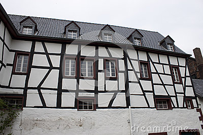 Traditional half timbered house