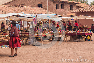 Traditional Handicraft Market in Peru Editorial Photo