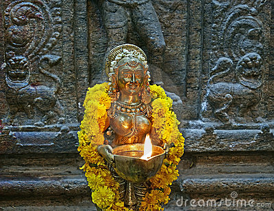The traditional Hindu religion sculpture