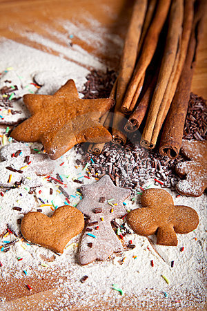 Free Traditional Home Baked Ginger Cookies Stock Image - 17410521