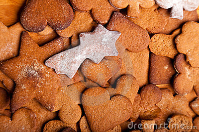 Traditional home baked ginger cookies