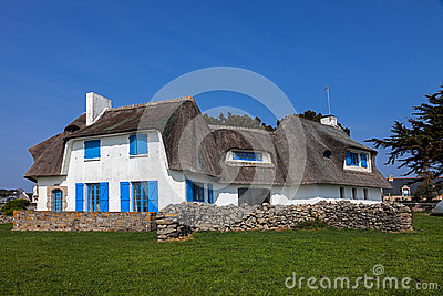 Traditional House in Brittany Editorial Photography