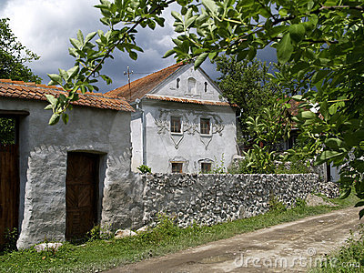 Traditional house in Comanesti, Romania
