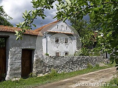 Traditional house in Comanesti, Romania