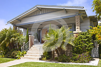 Traditional house with a green touch Point Loma California.