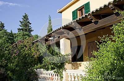 Traditional house in Majorca, raw