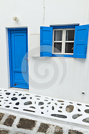 Traditional house at Mykonos island