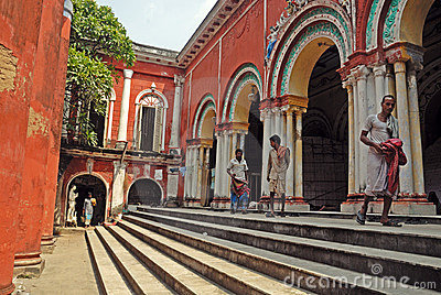 Traditional house of Old Kolkata. Editorial Stock Image