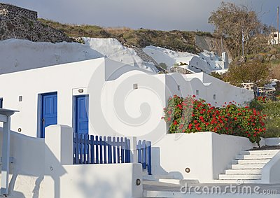 Traditional house at Santorini island