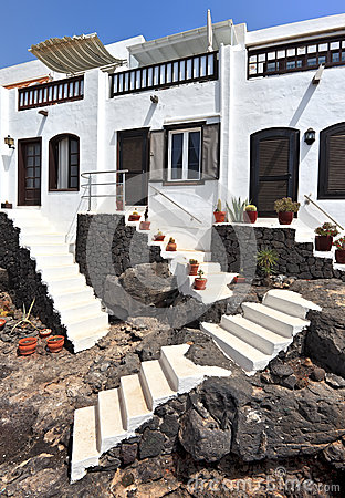 Free Traditional Houses In Puerto Del Carmen, Lanzarote Royalty Free Stock Images - 26883119