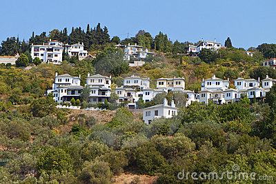 Traditional houses at Pelion in Greece