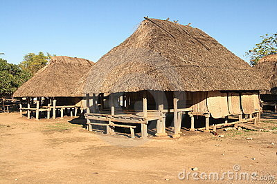 Traditional huts in West Timor, Indonesia