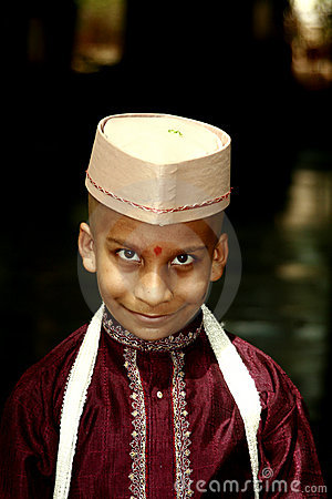 Traditional indian boy