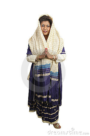 Free Traditional Indian Clothing Full Body Royalty Free Stock Images - 1597479
