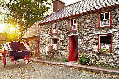 Traditional Irish cottage house