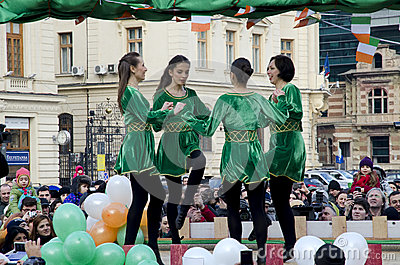 Saint Patricks Day in Bucharest 4 Editorial Stock Image