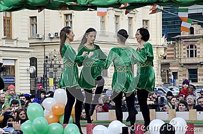 Saint Patricks Day in Bucharest 4 Editorial Stock Image