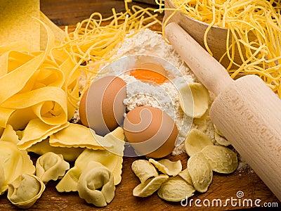 Traditional italian homemade pasta