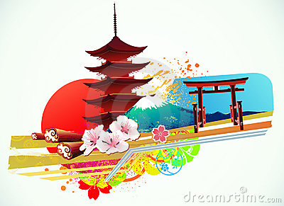 Traditional Japanese background