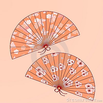 Traditional japanese fans