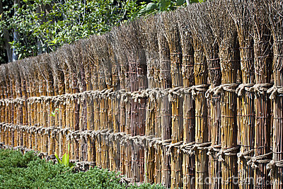 Traditional Japanese fence.