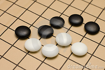 Traditional japanese game GO